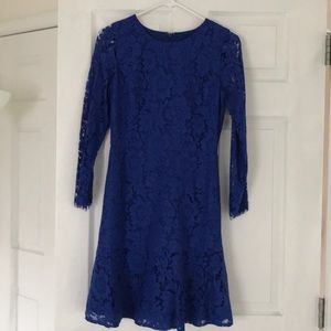 Royal blue/purplish J Crew dress